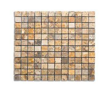 Mozaic travertin Autum Leaves Tumbled 2,3x2,3
